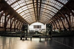 Waiting - Travel photo of the architecture in Antwerp Train Station, Belgium 2015