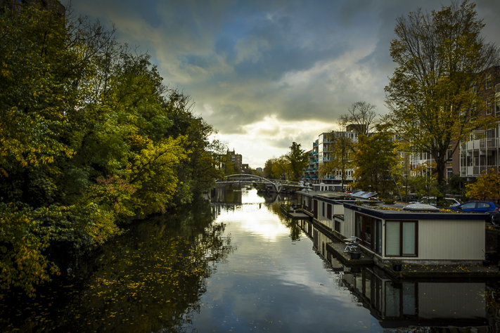 A Chance to Reflect - a beautiful sunset landscape over the canals in Amsterdam, Holland 2016