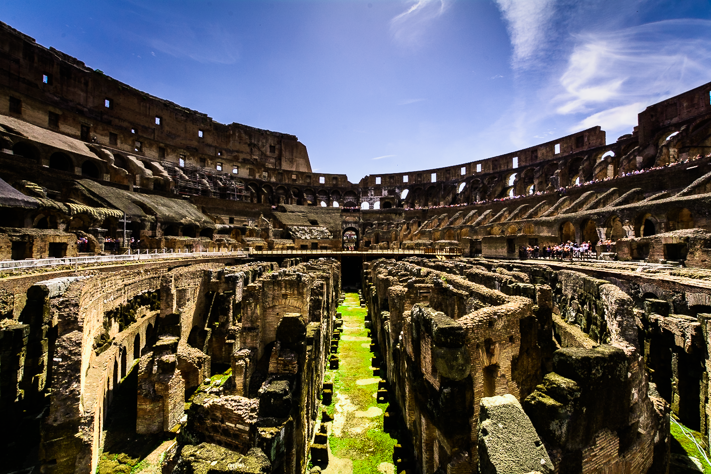 Arena - Architecture shot of the Colosseum from my travels in Rome, Italy 2016