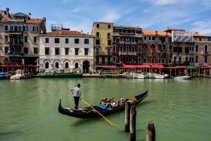 Gondola - Travel photo of the gondolas floating on the canals of Venice, Italy 2016