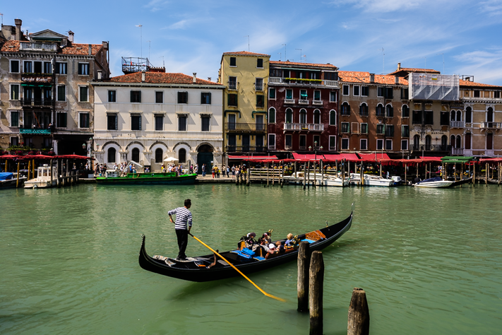 Gondola - Travel photo of the gondolas floating on the canals of Venice, Italy 2016