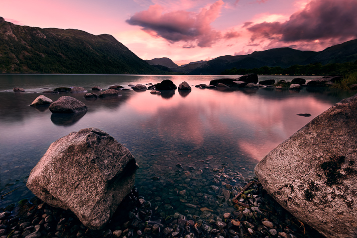 The Lakes of Cumbria - a gorgeous sunset over the Lake District, England 2017