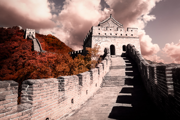 The Great Wall - a lovely view of the incredible Great Wall of China, Beijing 2017