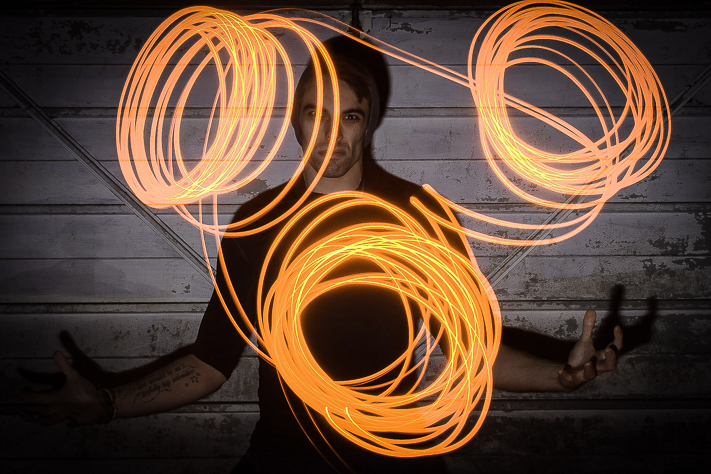 The Power - A self Portrait with light painting. England, 2017
