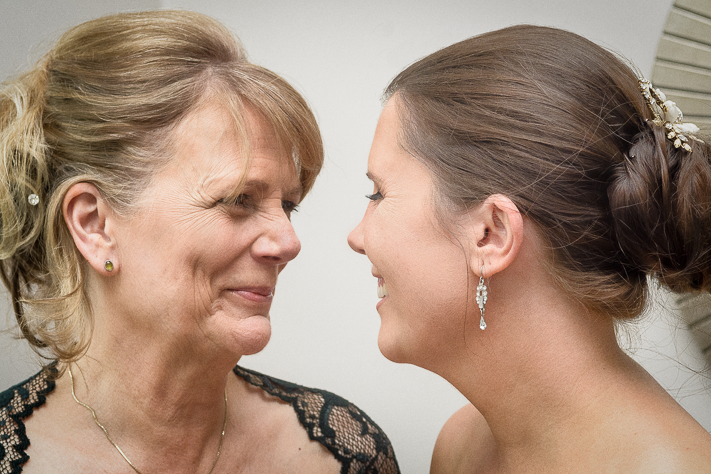 Mother and Daughter - a special moment between bride and mother England wedding 2017