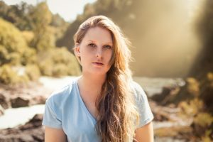 Janet - a sunset portrait in Nelson, New Zealand 2018