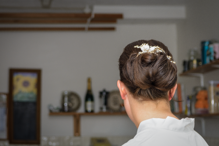 The Hair - The brides hair while she was getting ready for her wedding. Marlow, England 2017