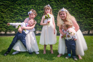 """""""Okay, Big Smile Guys!"""" - The children during the family photo shoots from my first wedding. Sanctum on the Green, Maidenhead, England 2017"""
