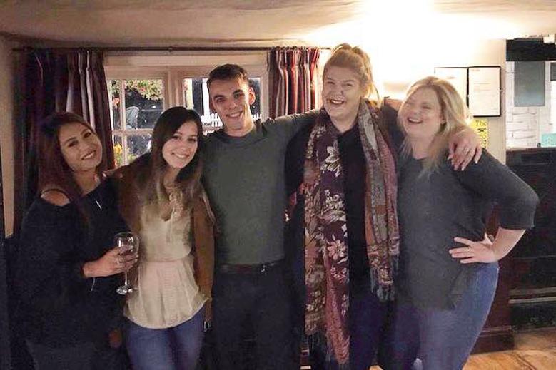 My friends on my last night in England. Jacob Everitt Photogeraphy Travel Blog