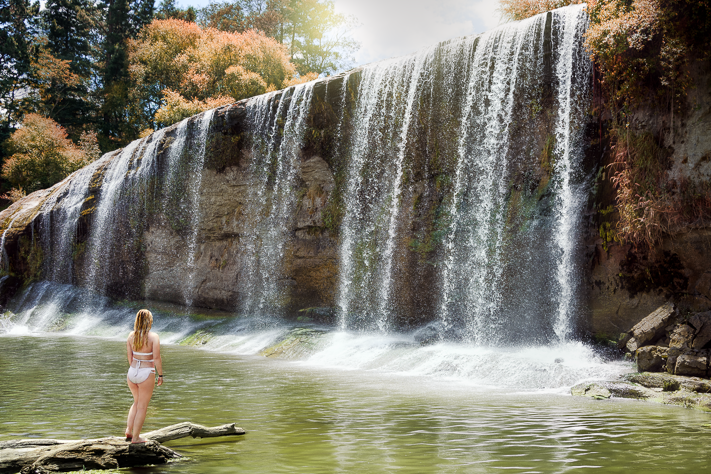 Rere Falls - The amazing Rere Falls in Rere, Gisborne, from my travels through New Zealand