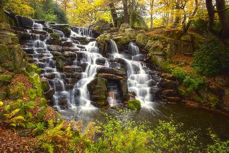 Virginia Waters Waterfall, Windsor, England