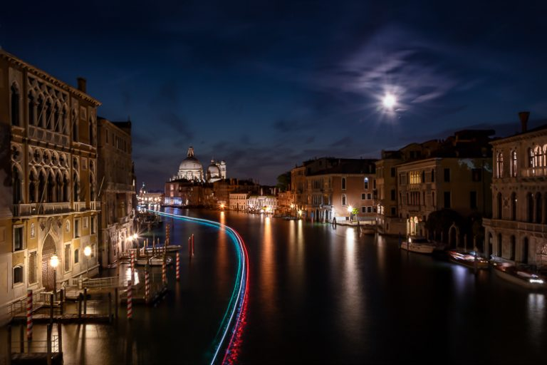 Venice Italy Nightscape Light Trails Jacob Everitt Photography