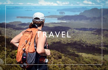 Button to access my Travel Portfolio Page hover