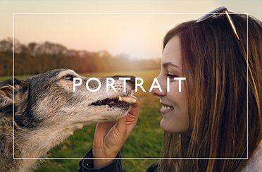 Button to access my Portrait Portfolio Page hover
